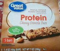 Protein chewy granola bars, Peanut, Almond & Dark Chocolate - Product