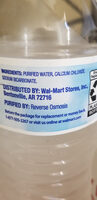 Great value, purified drinking water - Ingredients - en