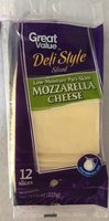 Deli style sliced mozzarella cheese - Product - en