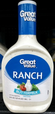 Great value, ranch dressing, buttermilk - Product - en