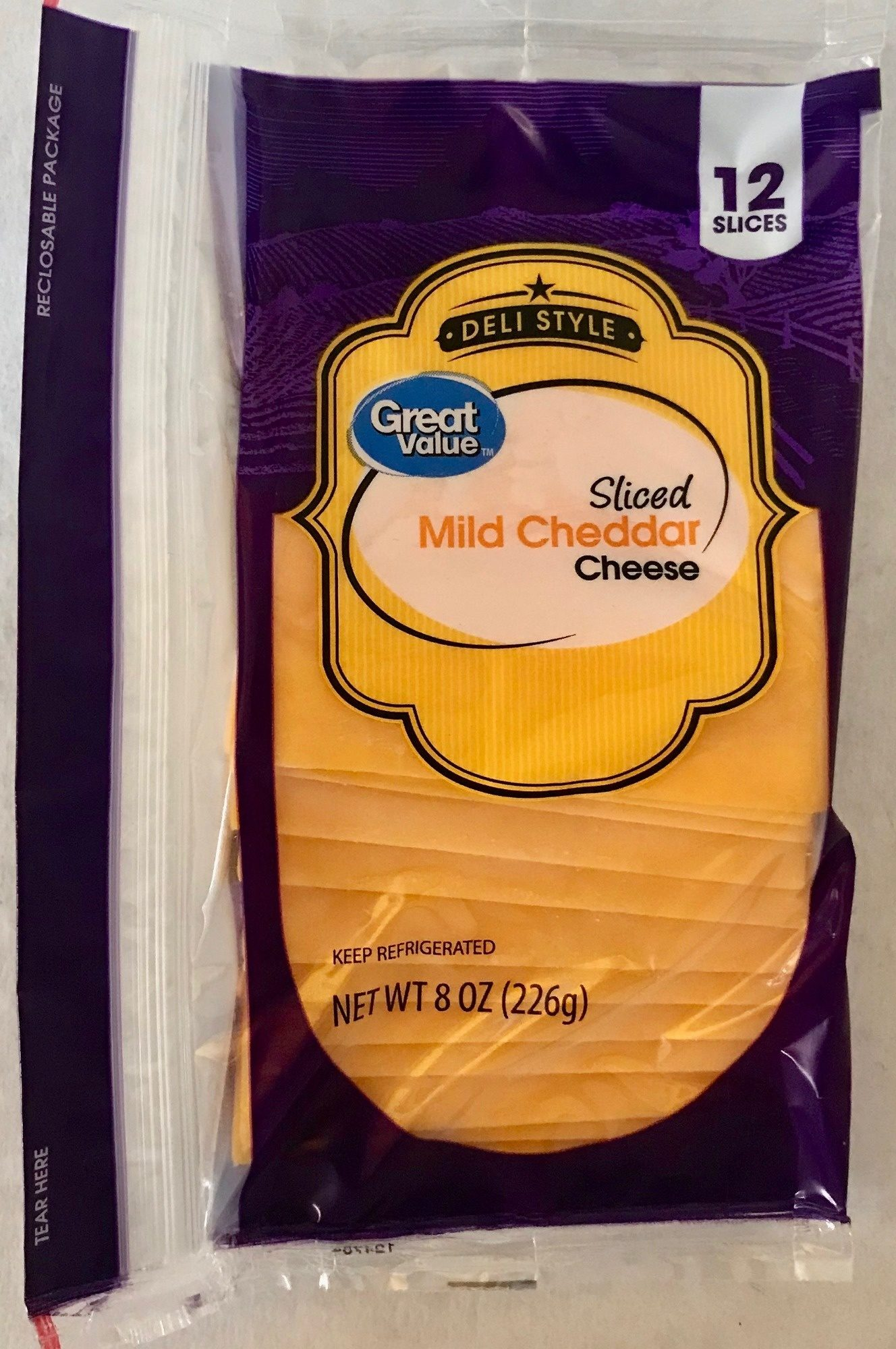 Deli Style Sliced Mild Cheddar Cheese - Product - en