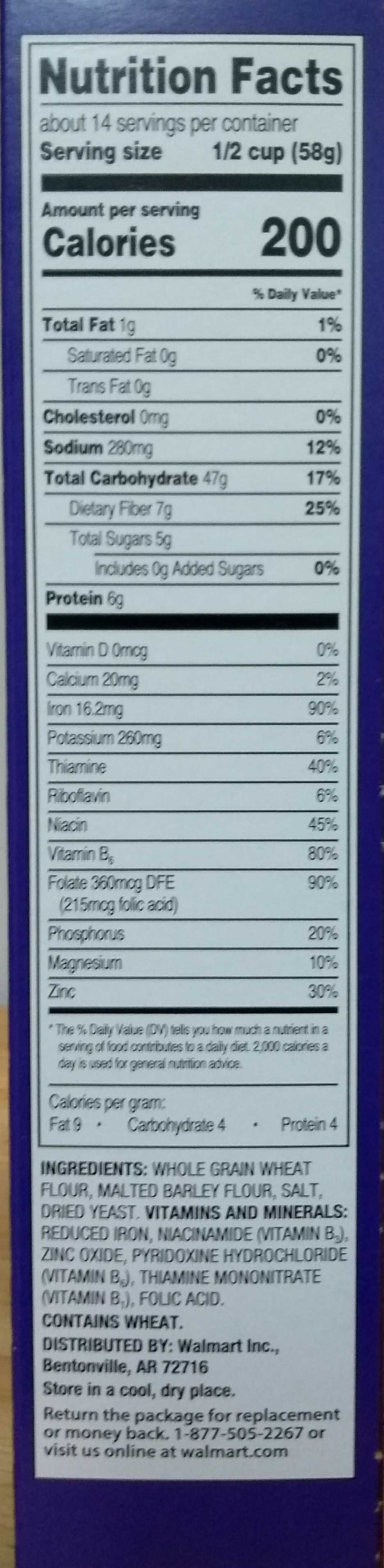 Crunchy Nuggets - Nutrition facts