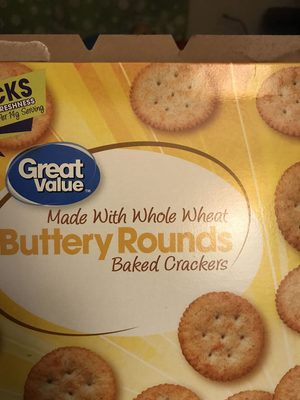 Buttery Crackers With Whole Wheat - Product - en