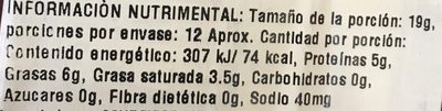 Slice Baby Swiss Cheese - Voedingswaarden - es