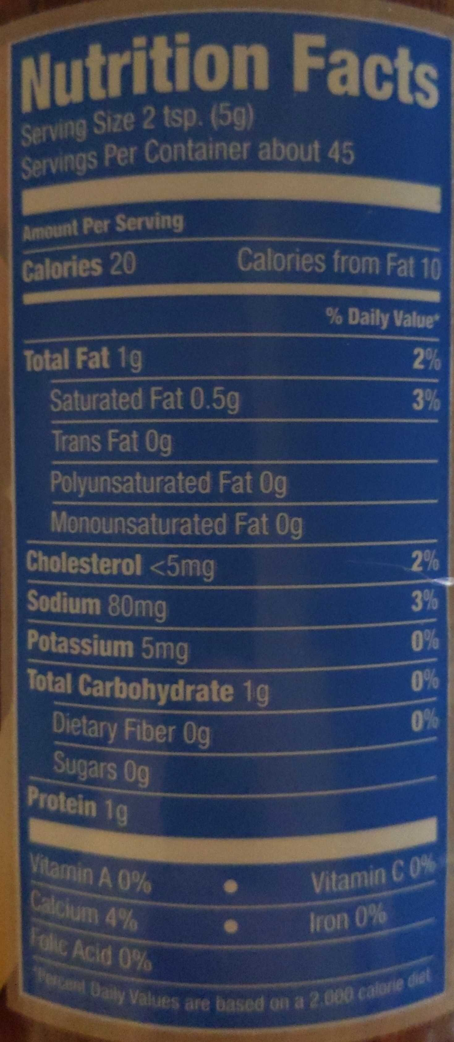 Style grated topping - Nutrition facts - en