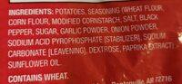 Wedges seasoned potatoes - Ingredients - en