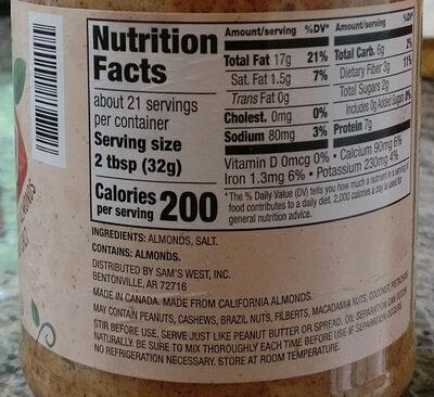 Creamy almond butter - Ingredients - en