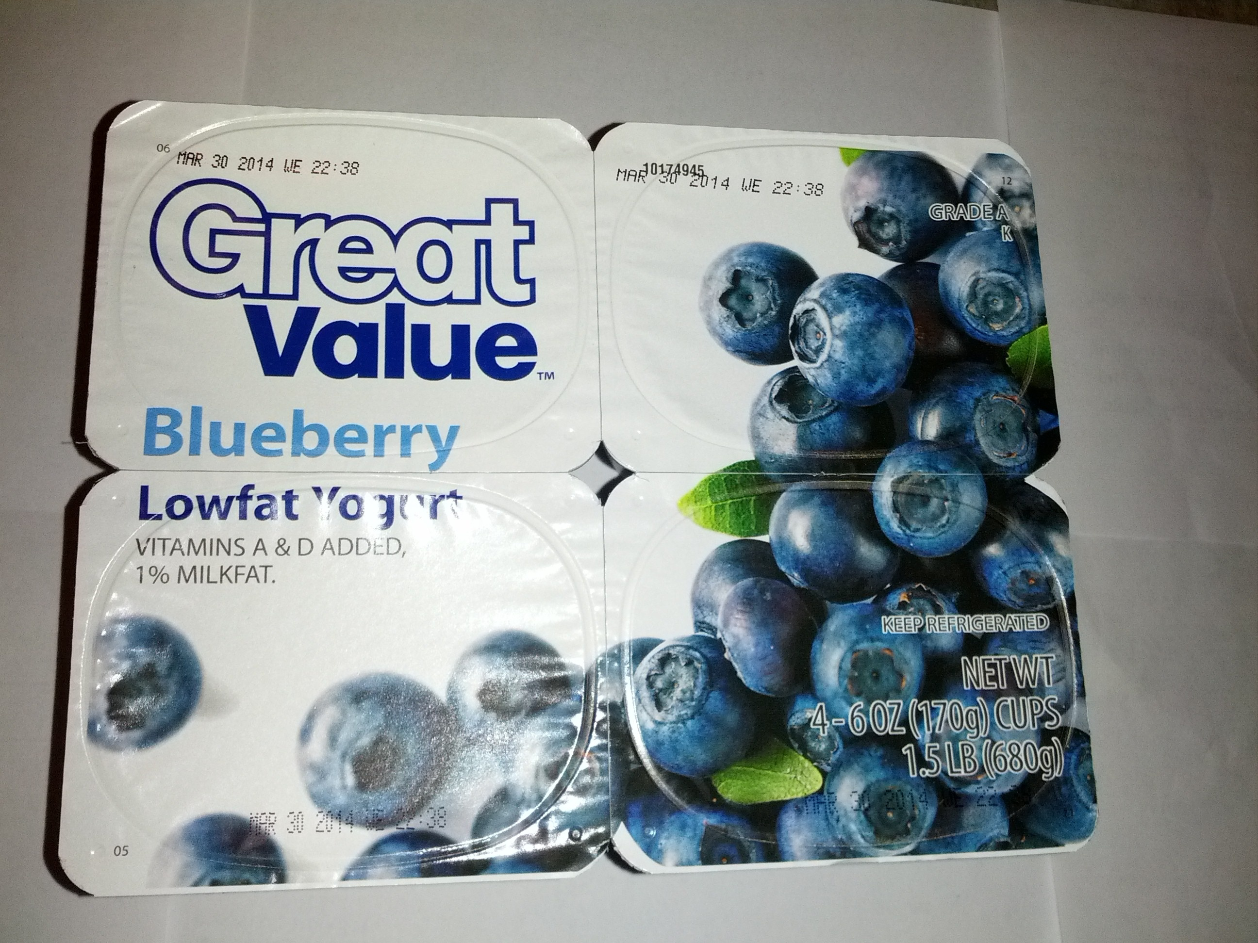 Blueberry Lowfat Yogurt - Produit