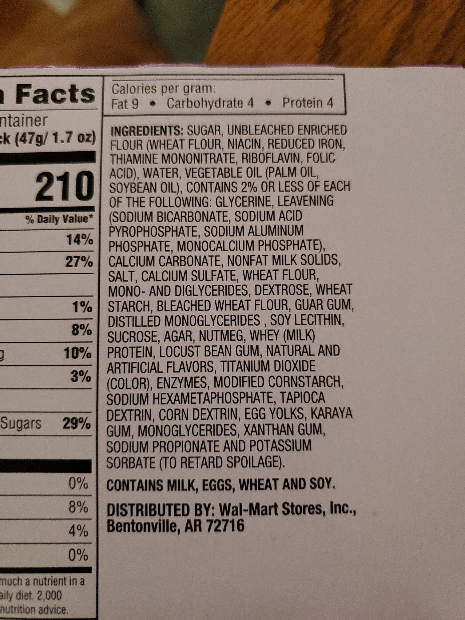 donut sticks - Ingredients - en