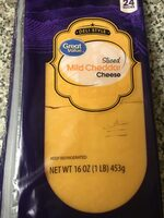 Deli Style Sliced Mild Cheddar Cheese - Product