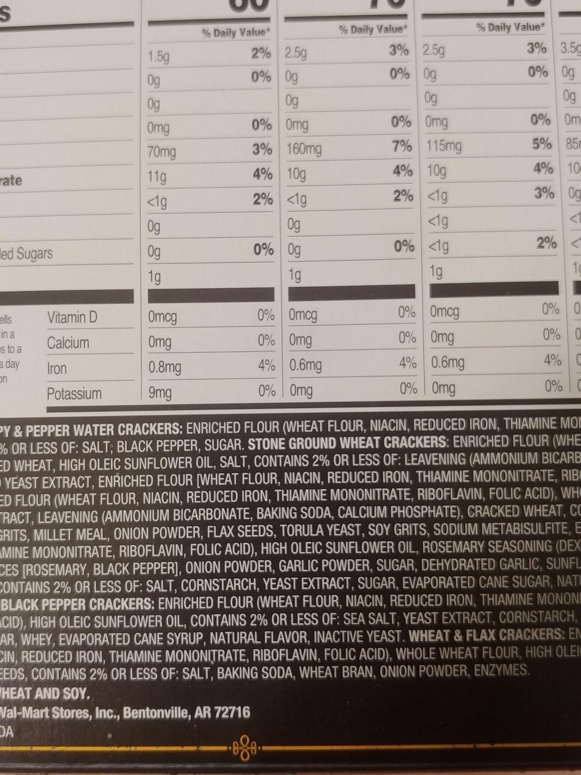 great value entertainment cracker selection - Ingredients - en