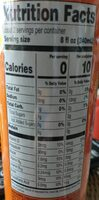 Sparkling Water Beverage, Pineapple Orange - Nutrition facts