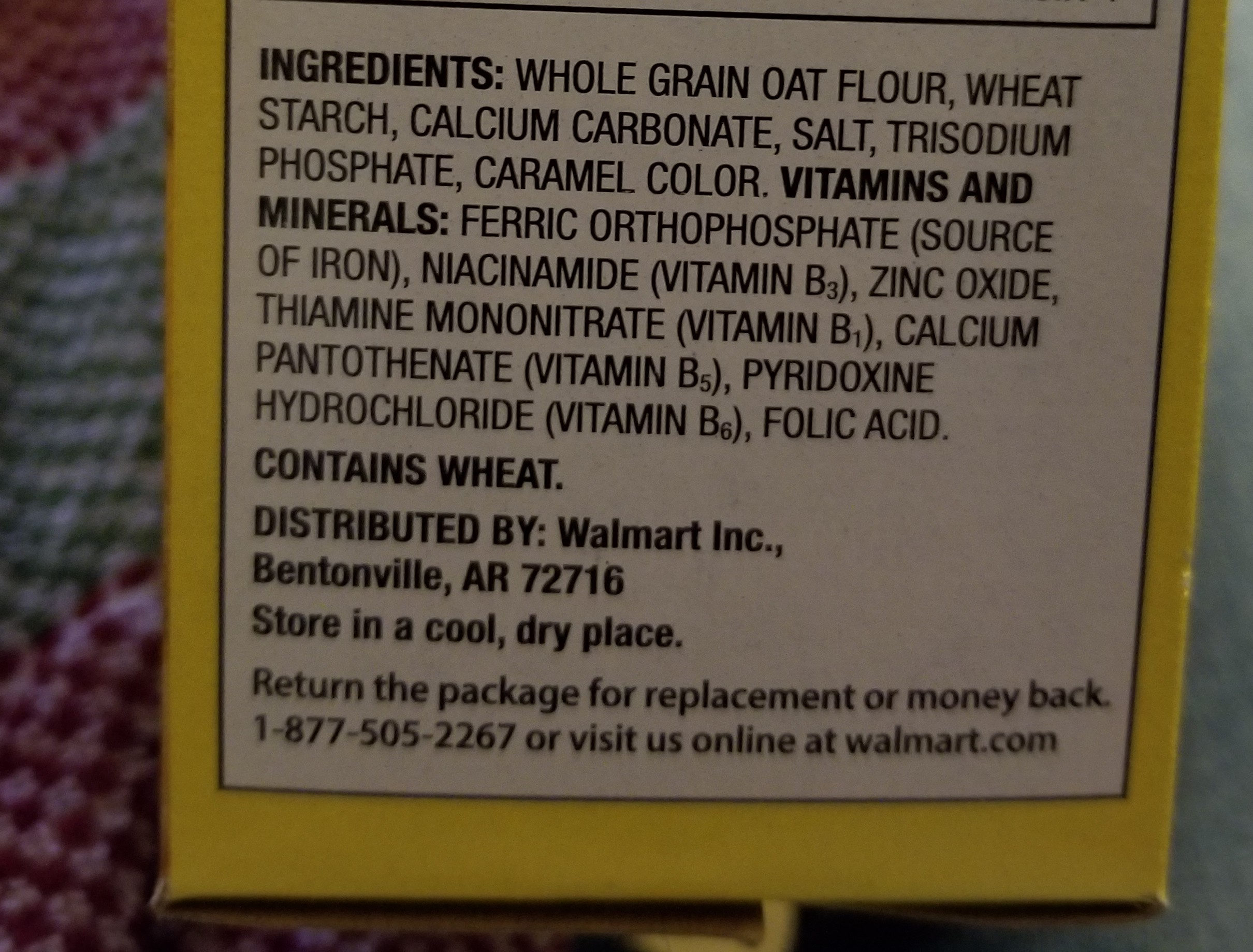 toasted o's - Ingredients
