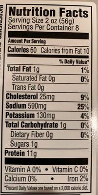 Oven roasted turkey breast - Nutrition facts - en