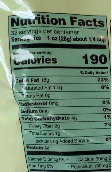Walnuts halves & pieces - Nutrition facts - en