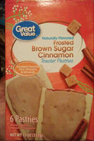 great value frosted brown sugar cinnamon toaster pastries - Product