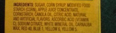 GV tangy fruit smiles - Ingredients - en