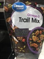 Omega trail mix - Nutrition facts