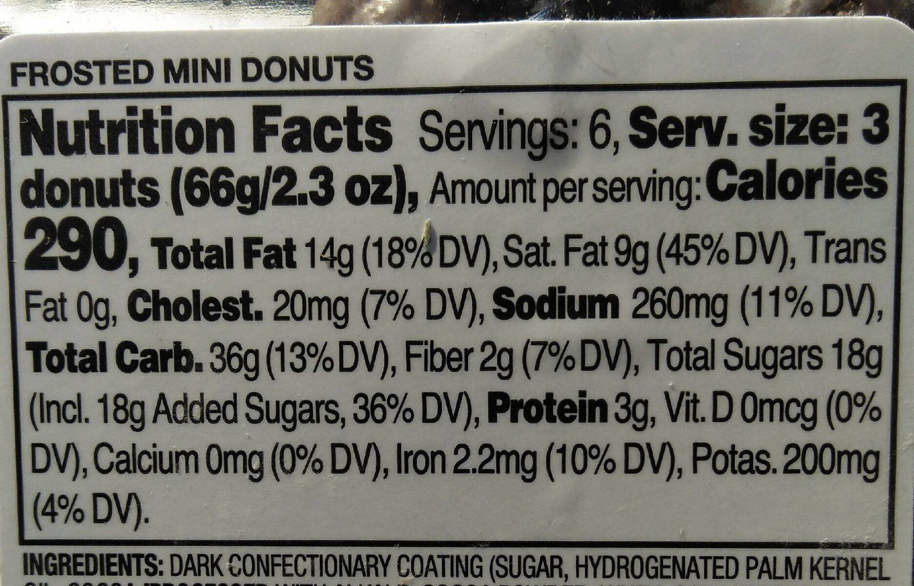 Frosted mini donuts - Nutrition facts - en