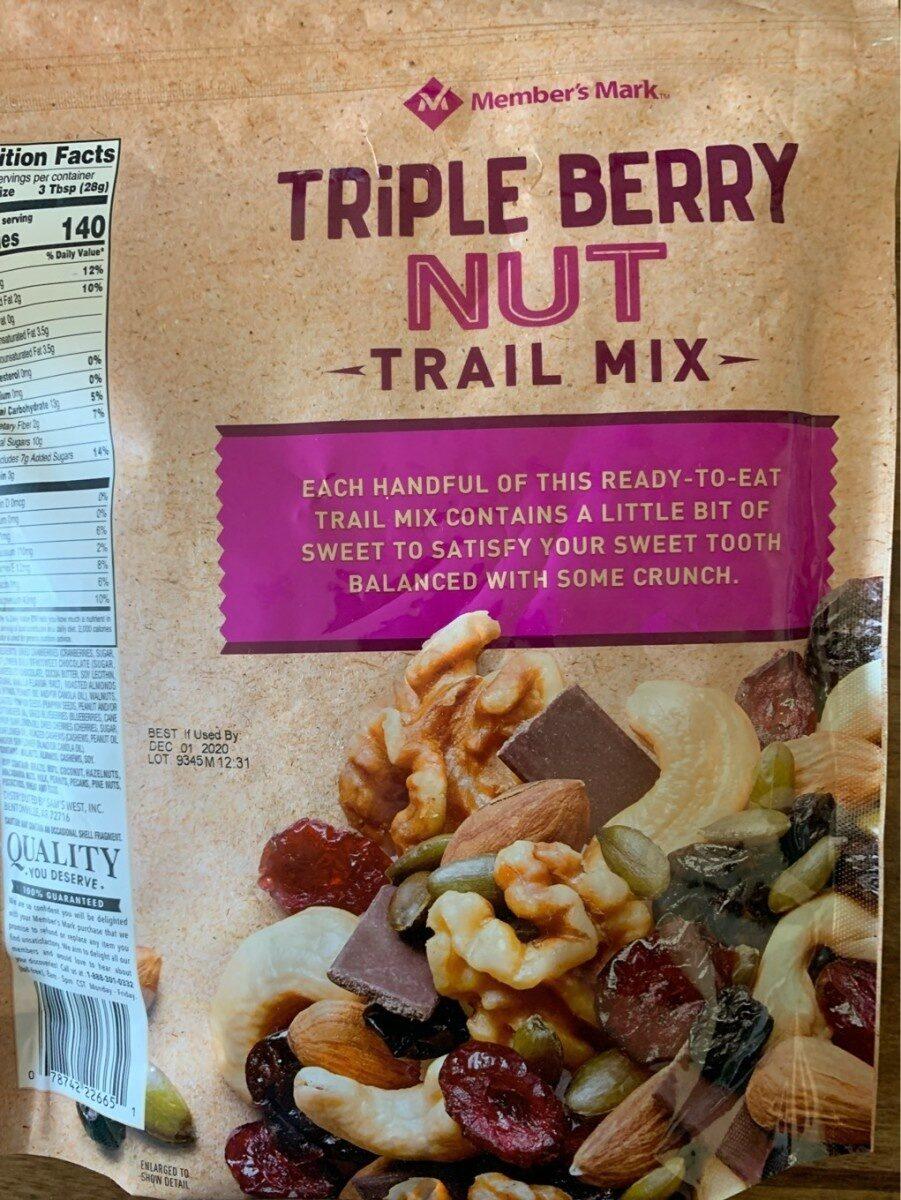 Triple berry nut trail mix - Product - en