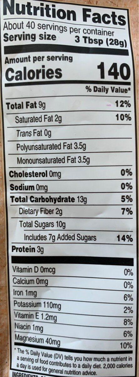 Triple berry nut trail mix - Valori nutrizionali - en