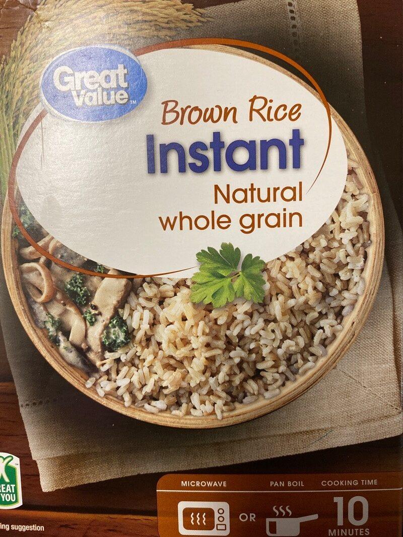Natural whole grain instant brown rice - Ingredients - es