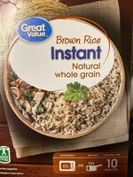 Natural whole grain instant brown rice - Informació nutricional - es