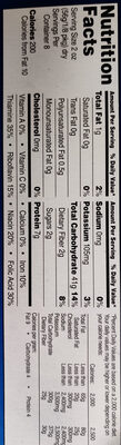 Enriched spaghetti product - Nutrition facts - en