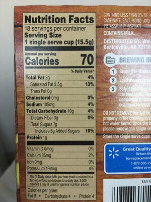 cahi latte - Informations nutritionnelles
