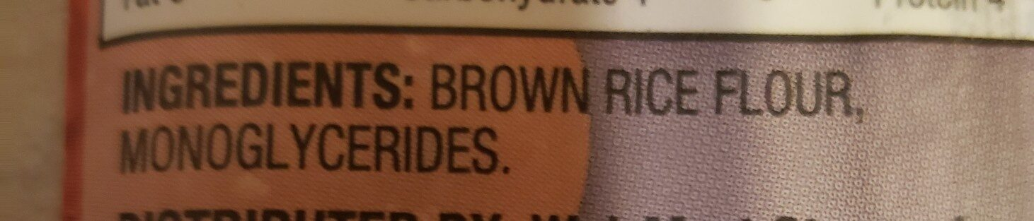 Brown Rice Spaghetti - Ingrédients