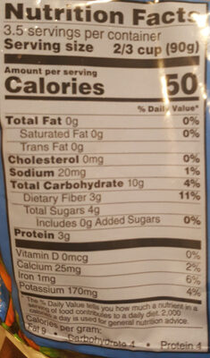 Peas and Carrots - Nutrition facts - en