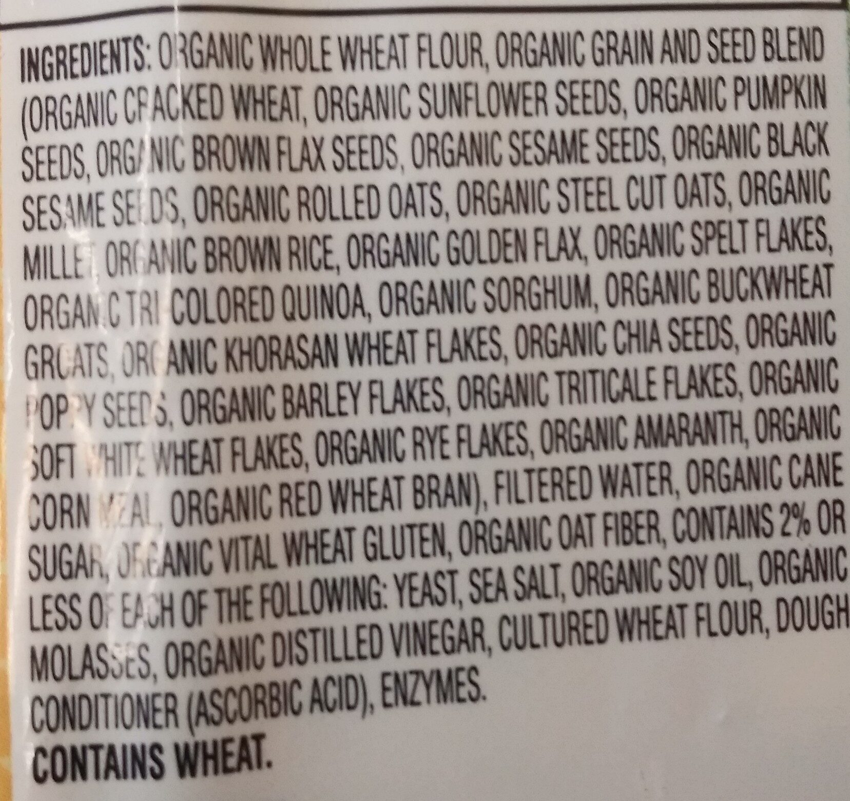 organic great value - Ingredients
