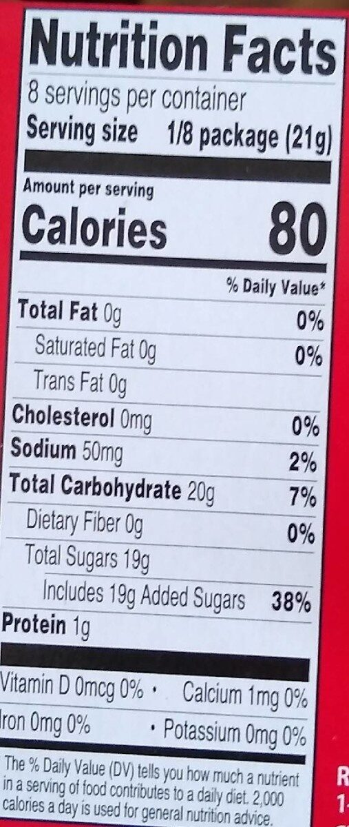 Strawberry Gelatin Dessert - Nutrition facts - en