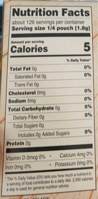 Unflavored gelatin - Nutrition facts - en