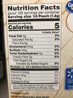 Unflavored gelatin - Nutrition facts