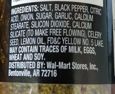 Lemon & pepper seasoning - Ingredientes - es