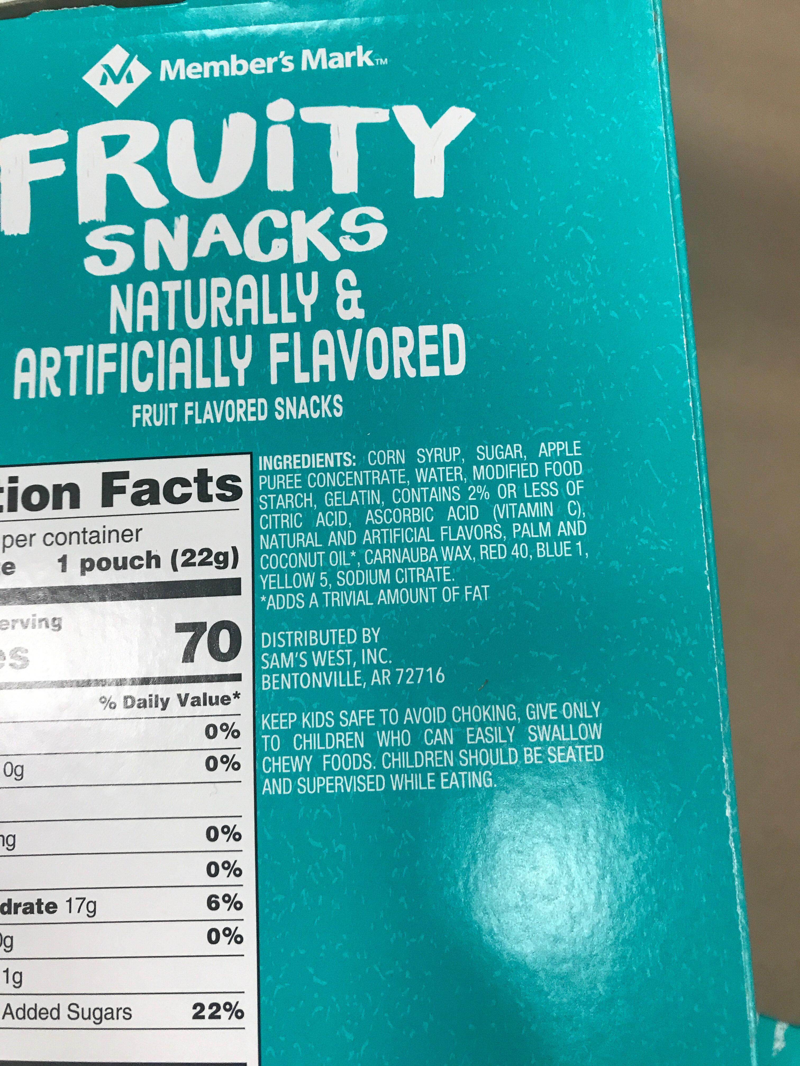 Fruity snacks - Ingrediënten - en