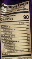 Thinly Sliced Cheese - Nutrition facts - en