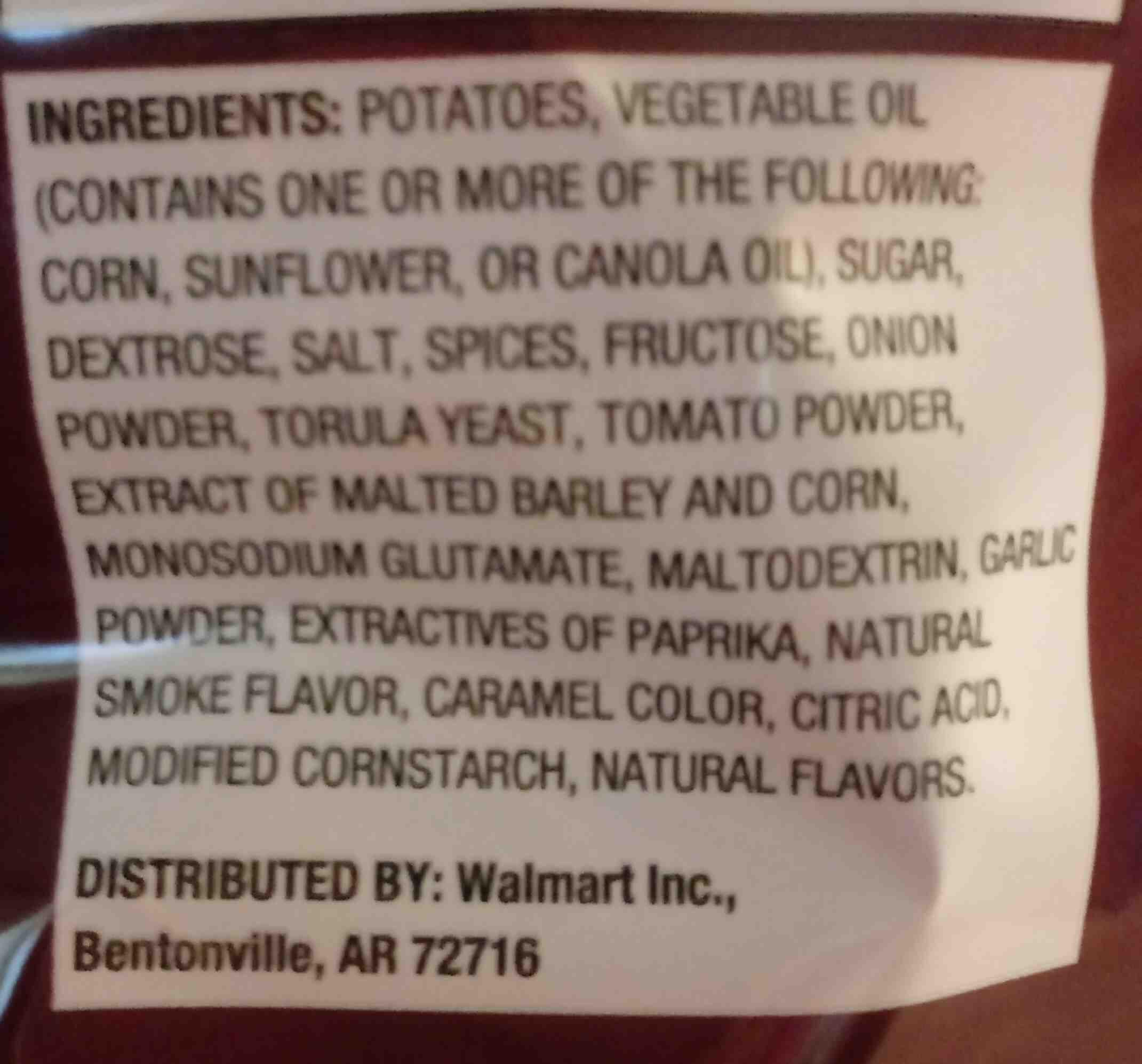 barbecue chips - Ingrédients - en