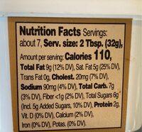 Cream cheese spread - Nutrition facts - en