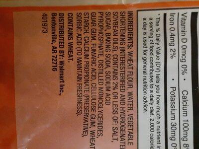 Medium soft taco flour tortillas - Ingredients - en