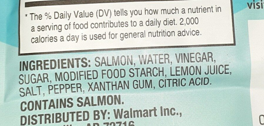 premium skinless & boneless lemon pepper pink salmon - Ingredients - en