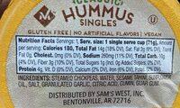 Classic hummus singles, classic - Nutrition facts - en