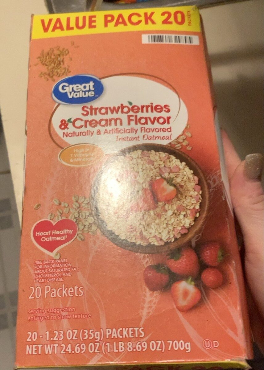 Strawberries ans cream oatmeal - Product - en