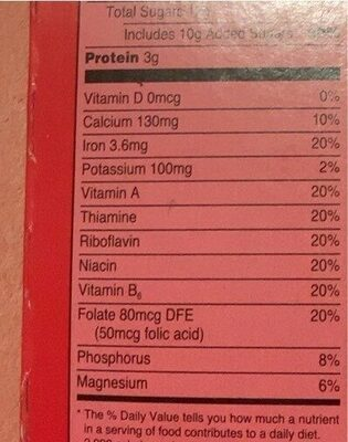 Strawberries ans cream oatmeal - Nutrition facts - en