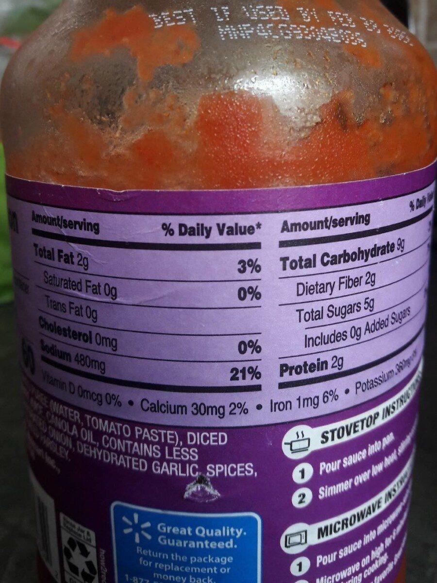 Marinara pasta sauce - Nutrition facts - en