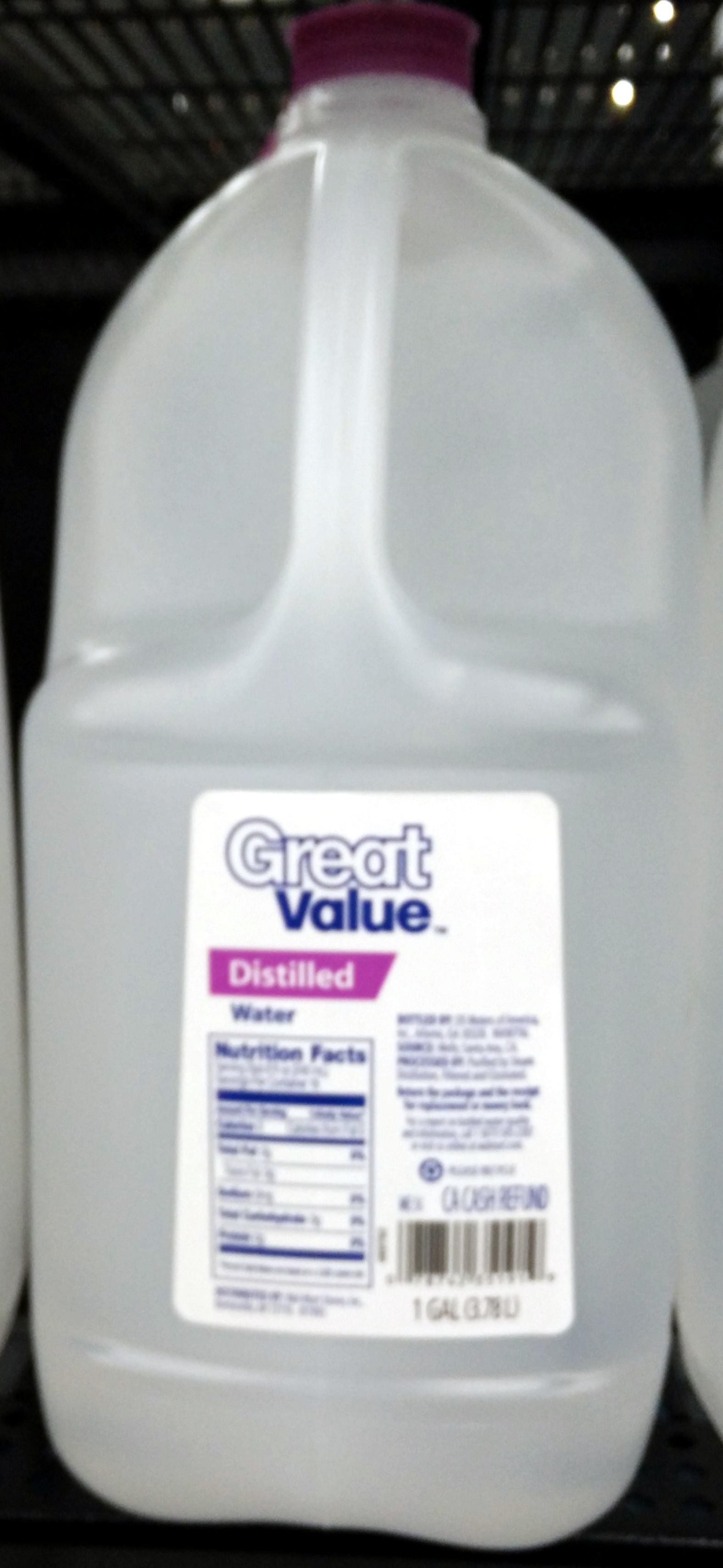 Distilled Water At Walmart ~ Distilled water great value