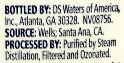 Distilled Water - Ingredients - en
