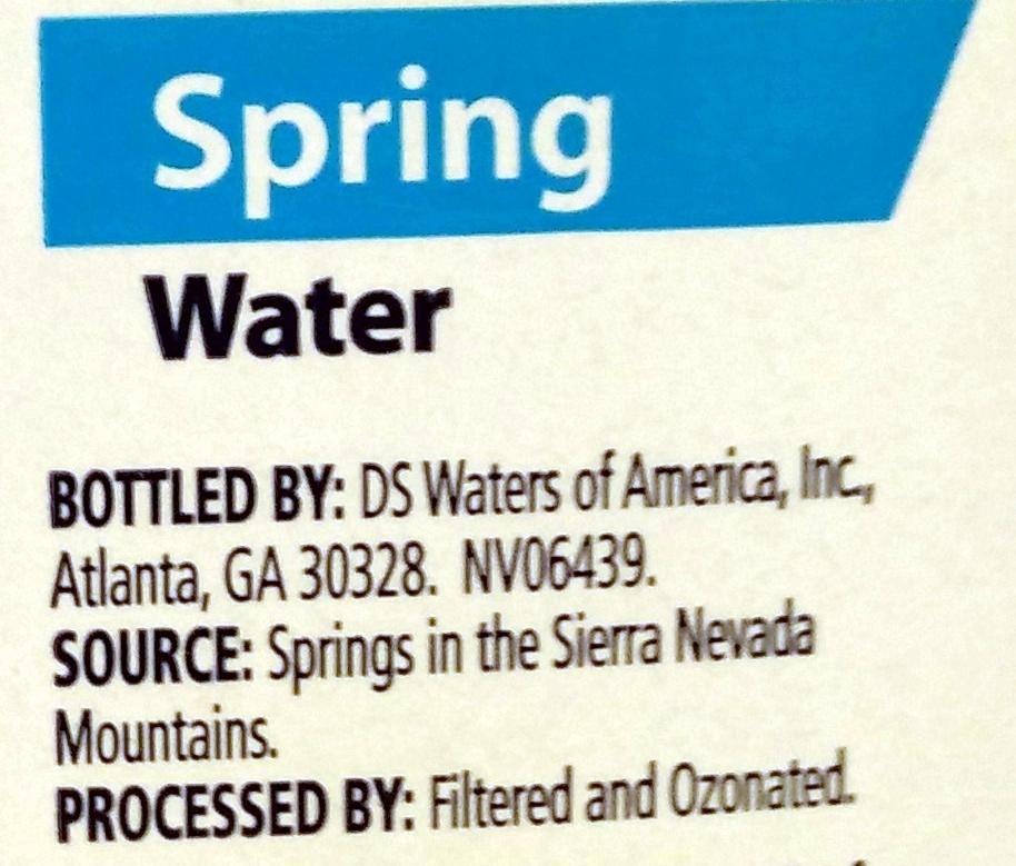 Spring Water - Ingredients - en