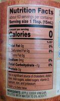 Apple Cider Vinegar - Informations nutritionnelles - en